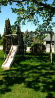 ** FREE - wooden swingset - MUST GO TODAY