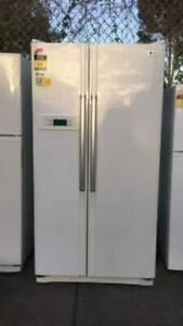 4.5 star large 705 liter side by side LG fridge