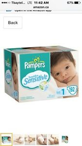 Pampers Swaddlers Sensitive sz 1