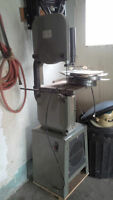 14 inch busy bee band saw on stand and with extra blades