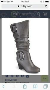 Size 8.5 ladies wide calf boots