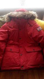 Jack Wills Men's red Parker coat