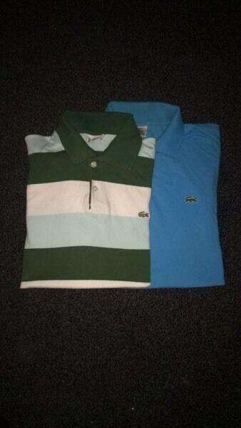 2 XXXL lacoste polo shirts