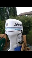 One  dual rotation v6 Johnson outboard  engine only 73hrs run