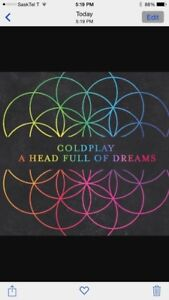 COLDPLAY TICKETS- GREAT SEATS AT ROGERS PLACE!!