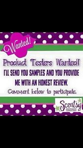 Looking for Scentsy product testers