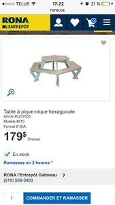 Table pique-nique