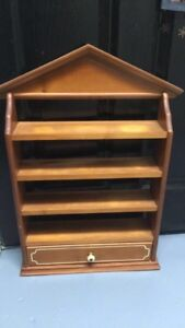 Antique spice rack with drawer