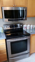 Samsung Steel Stove and Microwave - Mint Condition