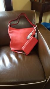 Coach Watermelon Snow Purse and matching Wallet/Wristlet