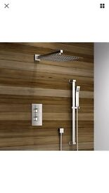 2 Dial 2 Way Thermostatic Shower Set