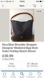 Used blue nica bag