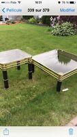 Deux table en verre