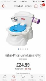 Fun potty week old