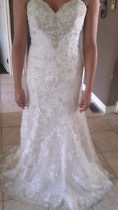 Mori Lee Wedding dress size 10. Worn once.