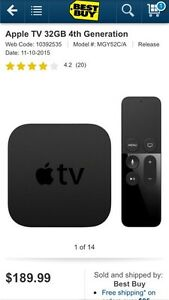 4th Generation Apple TV Box