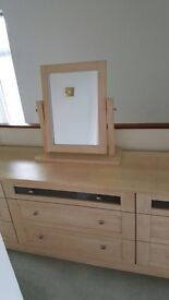 Schreiber dressing table with 9 drawers - maple colour