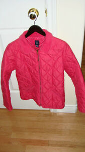 Girl's pink quilted jacket