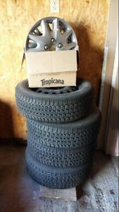 15 inch winter tires $350 obo used one season