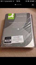 Q-Connect A5 Executive Spiral Notepads (New)