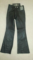BRAND  NEW black leather motorcycle/riding pants Size XS