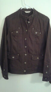 """Jessica"" dark brown color cord jacket Size 16"