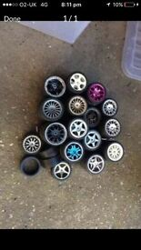 Tamiya remote controlled car wheels