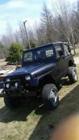 1990 Jeep Wrangler 4x4 selling for parts