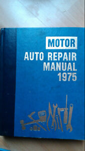 Motor Auto Repair Manual, 1975. Covers all makes.