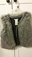 Joe Fashion, Very Cute Faux Fur Vest, size 8 (Brand New)