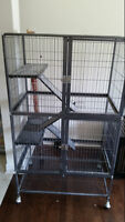 Large chinchilla cage and accessories