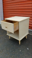 Retro Vintage Shabby Chic White Night Stand or End Table