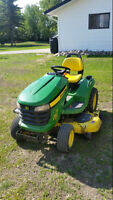 2009 John Deere x540 Tractor with attachments