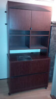 2 drawer lateral filing cabinit. with book case