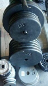 """120lbs Standard 1"""" or Olympic 2"""" Weights Pates no bench rack"""