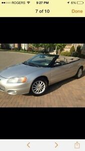 Chrysler Convertible For Sale-Excellent Condition Best Offer