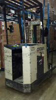 1990 Crown 35RCTT End Control Stacker Electric Forklift