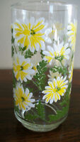 Beautiful Hand painted glasses with yellow & white flowers