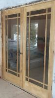 Solid Pine Interior French Doors - BRAND NEW!