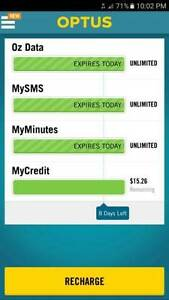 $2 Optius unlimited sim card Tuart Hill Stirling Area Preview