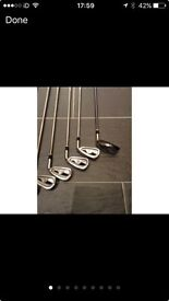 Cleveland cg4 3-pw golf irons and Cleveland highbore 2 hybrid