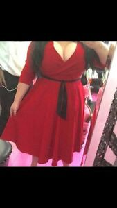 Red evening gown 4x fits a 2x