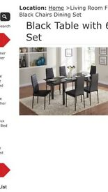 Brand new 6 seat dining set