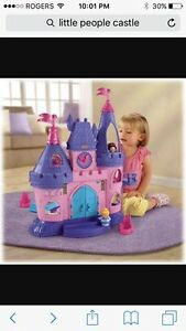 Little People Castle and House -  PERFECT Condition!!