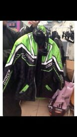 Selection of motorbike jackets, off road, textile