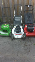 3 lawn mowers, all for $120