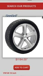 Winter package (tires on wheels) for 2016 VW Passat / Beetle.  Kitchener / Waterloo Kitchener Area image 1