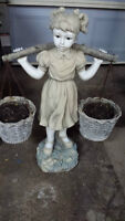 """Boy and girl decor 26'' high and baskets 7"""" Dia ................"""