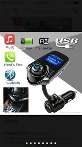 FM Transmitter, Bluetooth Car Kits with Music Control and TF Car