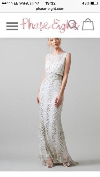 BRAND NEW Phase Eight Hope Wedding Dress Ivory